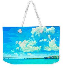 Watercolor Spring On Sarasota Bay Weekender Tote Bag