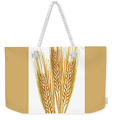 Weekender Tote Bag featuring the painting Watercolor Wheat Illustration by Irina Sztukowski