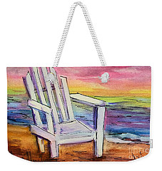 Watercolor White Chair Weekender Tote Bag