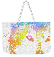 Watercolor Wolf Weekender Tote Bag