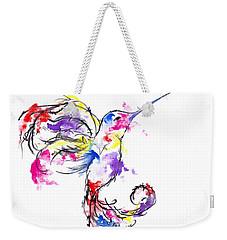 Watercolour Hummingbird Weekender Tote Bag