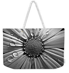 Waterdrops On A Daisy Weekender Tote Bag by Patricia Strand