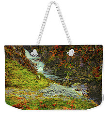 Weekender Tote Bag featuring the photograph Waterfall 1 #g9 by Leif Sohlman