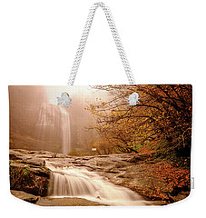 Weekender Tote Bag featuring the photograph Waterfall-11 by Okan YILMAZ