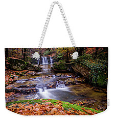 Weekender Tote Bag featuring the photograph Waterfall-2 by Okan YILMAZ