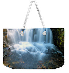 Waterfall Along Sunbeam Creek In Mt Rainier National Park Weekender Tote Bag