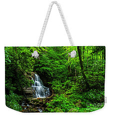 Waterfall And Rhododendron In Bloom Weekender Tote Bag