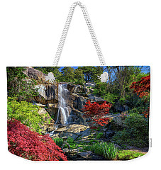 Weekender Tote Bag featuring the photograph Waterfall At Maymont by Rick Berk