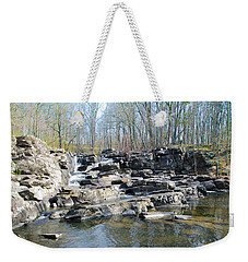 Weekender Tote Bag featuring the photograph Waterfall At Wickecheoke Creek by Bill Cannon