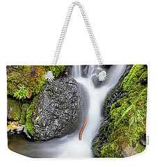 Weekender Tote Bag featuring the photograph Waterfall Atop Wolf Creek Pass - Colorado - Nature by Jason Politte