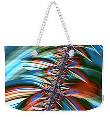 Weekender Tote Bag featuring the digital art Waterfall Fractal 2 by Bonnie Bruno