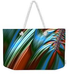Weekender Tote Bag featuring the digital art Waterfall Fractal by Bonnie Bruno