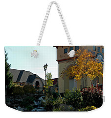 Weekender Tote Bag featuring the photograph Waterfall Frankenmuth Mich by LeeAnn McLaneGoetz McLaneGoetzStudioLLCcom