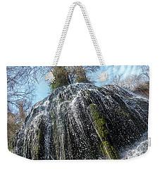 Waterfall From Below Weekender Tote Bag