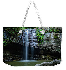 Weekender Tote Bag featuring the photograph Waterfall In Paradise by Keiran Lusk