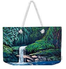 Waterfall In The Forest Weekender Tote Bag