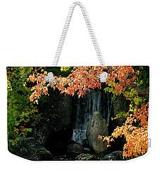 Waterfall In The Garden Weekender Tote Bag