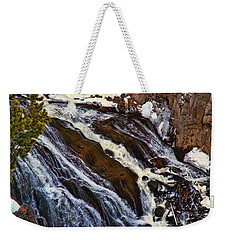 Waterfall In Yellowstone Weekender Tote Bag by C Sitton