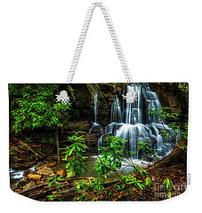 Weekender Tote Bag featuring the photograph Waterfall On Back Fork by Thomas R Fletcher