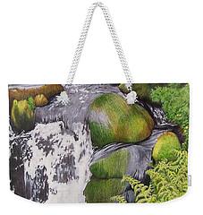 Waterfall On Skye Weekender Tote Bag