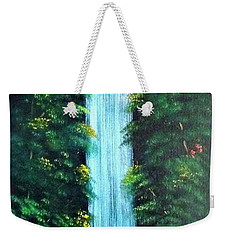 Waterfall Sanctuary Weekender Tote Bag