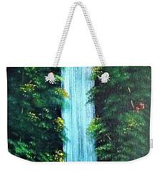 Waterfall Sanctuary Weekender Tote Bag