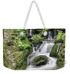Weekender Tote Bag featuring the photograph Waterfalls And Rapids On The White Opava Stream by Michal Boubin