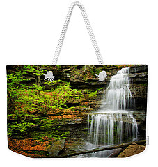 Waterfalls On Little Three Mile Run Weekender Tote Bag