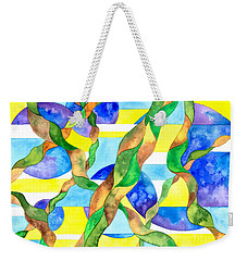 Watering The Lawn Abstract Weekender Tote Bag