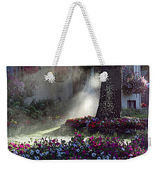 Watering The Lawn Weekender Tote Bag by Keith Boone