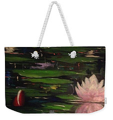 Weekender Tote Bag featuring the painting Waterlilies - Original Sold by Therese Alcorn