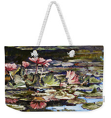 Waterlilies Tower Grove Park Weekender Tote Bag by Irek Szelag