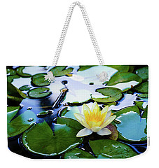Waterlilly On Blue Pond Weekender Tote Bag