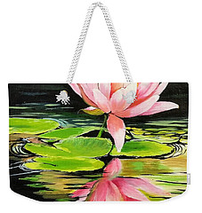 Waterlily Weekender Tote Bag