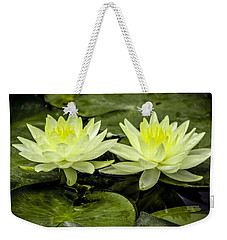 Waterlily Duet Weekender Tote Bag