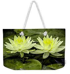 Waterlily Duet Weekender Tote Bag