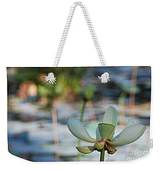 Waterlily Wash Horizontal Weekender Tote Bag by Heather Kirk