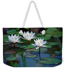 Waterlilys Weekender Tote Bag by Robert Meanor