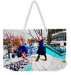 Waterloo Street Scene Weekender Tote Bag by Judi Saunders