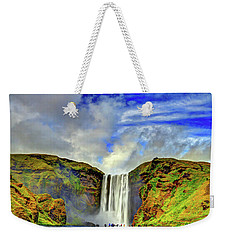 Weekender Tote Bag featuring the photograph Watermall And Mist by Scott Mahon