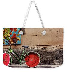Watermelon Wheels Weekender Tote Bag by Happy Home Artistry