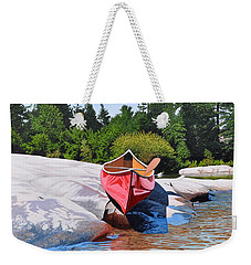 Weekender Tote Bag featuring the painting Waters Edge by Kenneth M Kirsch