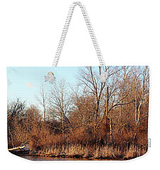 Weekender Tote Bag featuring the photograph Northeast River Banks by Melinda Blackman