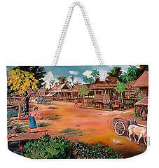 Waterside Town Community Weekender Tote Bag
