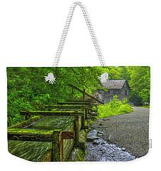 Weekender Tote Bag featuring the photograph Waterworks Mingus Mill Mingus Creek Art  Great Smoky Mountains Art by Reid Callaway
