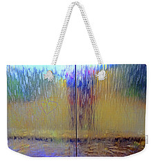 Weekender Tote Bag featuring the photograph Watery Rainbow Abstract by Nareeta Martin