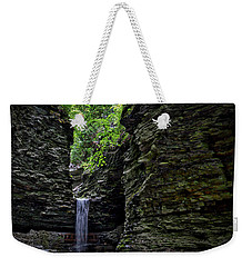 Watkins Glen Cavern Cascade Waterfall #2 Weekender Tote Bag