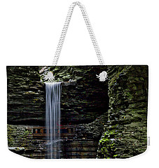 Watkins Glen Cavern Cascade Waterfall #3 Weekender Tote Bag by Stuart Litoff