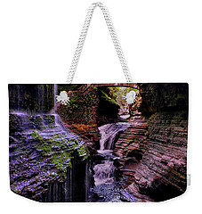 Watkins Glen State Park - Rainbow Falls 002 Weekender Tote Bag by George Bostian