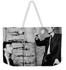 Watson And Crick Weekender Tote Bag by A Barrington Brown and Photo Researchers